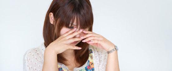 PMS症状、生理前に泣くの画像