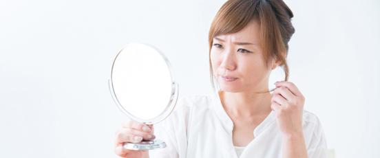 生理前の髪のトラブル原因と・・の画像